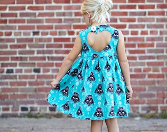 Day of the Dead Darth Vader print Sweetheart Dress - CUSTOM made -  Size 2T-6
