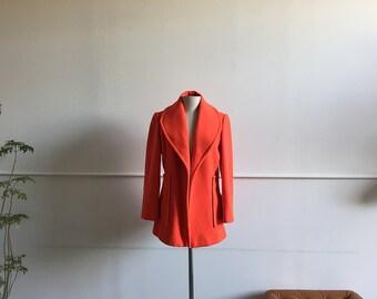 Vintage Neon Wool Coat.