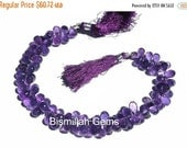 55% OFF SALE 1/2 Strand 35 Pcs - Fine Quality Genuine African Amethyst Micro Faceted Tear Drop Briolettes 7.5x6mm - 9x5.5mm