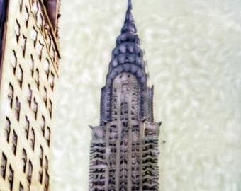 Chrysler Building - Polaroid SX-70 Manipulation - 8x8 Fine Art Photograph, Wall Decor
