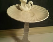 Swan Cupcake Plate Stand Party Decoration Jewelry Holder Soap Dish Candy Stand decor piece