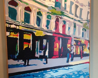 Bobby Logic Painting - Out Shopping - Paris street scene