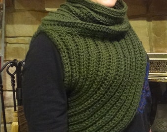 Crossbody Cowl - Huntress Shawl - Katniss Sweater
