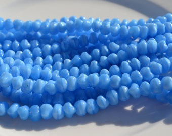 Sky BLue Nugget ROndelle Beads  Czech GLass 25