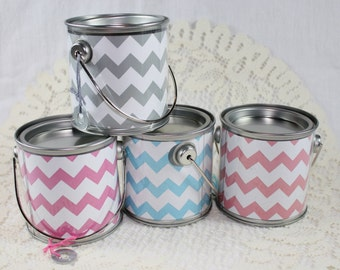 Hot Pink Chevron Middy Bitty Buckets