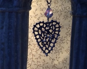 One of a Kind ALL Original Sterling Silver Heart Pendant Necklace with Adjustable Chain and Toggle Clasp