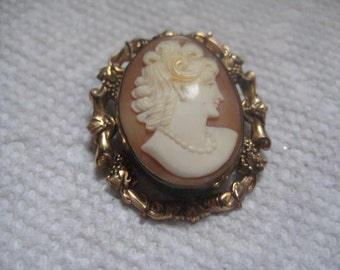 Vintage PSCo 1 20th 12KT Gold Filled Shell Cameo Hand Carved