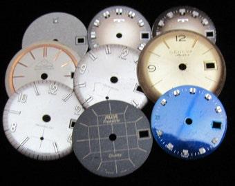 Vintage Antique Watch Dials Steampunk round Faces Parts H 61