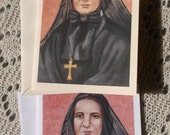Saint Mother Xavier Cabrini, Founder, Stationary Card with Envelopes on White and Ivory Card Stock taken from my Original Acrylic Painting