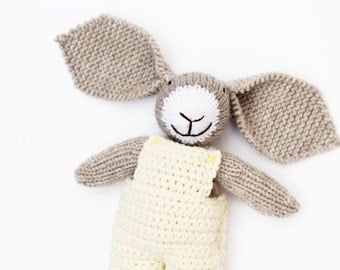 Lemon baby toy bunny, soft toys, knitted bunny, knitted toys, toy bunny, handmade toy, easter bunny, easter bunny toy, baby gift