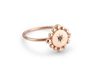 Rose Gold and Black Diamond Engagement Ring : Bobble & Twinkle