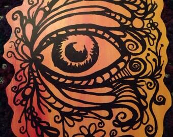 Lucid Rose Eye Behold sticker