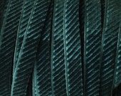 2 Yards Dark Teal Green Velvet Corduroy Ribbon Trim 8mm Wide