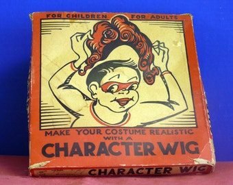 VINTAGE Halloween Character WIG -  Boxed -  Minstrel