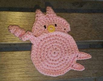 Piggy Butt, Pig Bottom, Piglet Behind, Oink Rear,  Little Piggy Bum, Mug Rug, made to order