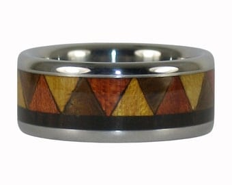 Tribal Wood Design Ring