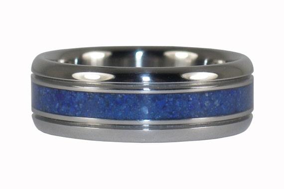 Blue Lapis Titanium Ring