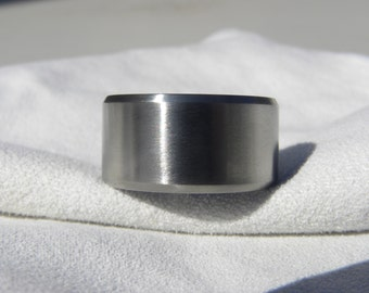Titanium Ring or Wedding Band, Beveled Edges, All Satin Finish, All widths