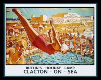 Butlins Clacton on Sea Refrigerator Magnet
