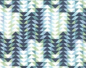 Tucker Prairie Fabric // Blue Flying Geese // 1canoe2 // cotton quilting