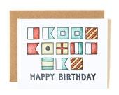 Happy Nautical Birthday Letterpress Card//1canoe2