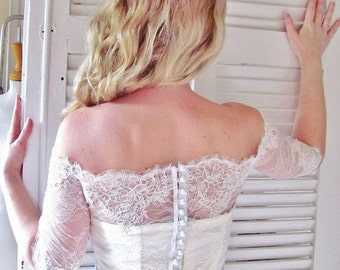 Indian Love Story white bridal lace top