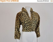 ON SALE leopard jacket / Killer Bad Girl Vintage 50's Leopard Faux Jacket