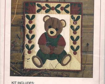 Beary Patch Teddy Bear Wallhanging Quilt Kit Christmas Teddy Bear Quilt Block Teddy Bear Quilt Includes Fabric Instructions Patterns