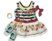 6m -Strawberries and flowers Spring Dress