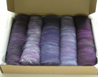 150g Drum Carded Batts - Ultraviolet
