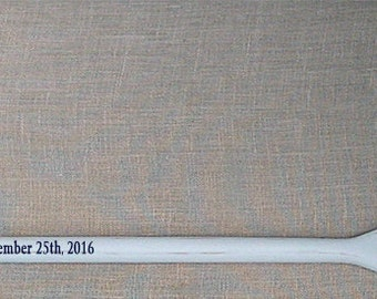"""59"""" Personalized Painted and Striped Oar (1) Nautical Wedding Guest Book Alternative Oar with Bride and Groom Names and Wedding Date"""
