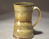 Stoneware Handmade 16 oz pint size Pottery Mug for Coffee, Beer or Tea