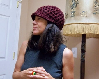 CHUNKY BILL Handmade Crochet Hat Bill Hat Womens Hat Hippie Boho Hat Crochet Bill