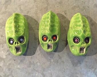 Ceramic Monster Magnets (set of 3)