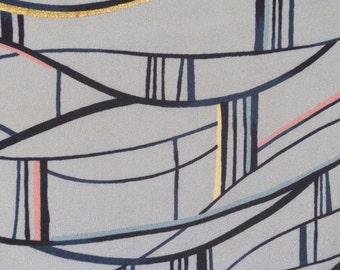 Vintage kimono S19, grey blue kimono, silk, awase