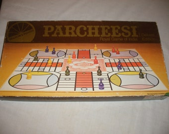 Vintage Parcheesi Game Deluxe Edition by SelRight 1982, A Backgammon Game of India, 100% Complete