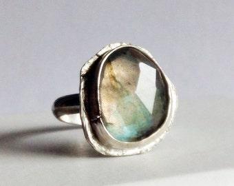 Labradorite Ring - Size 7 Labradorite Ring - Modern Bohemian Chic - Boho Luxe - Bohemian Mama Jewelry