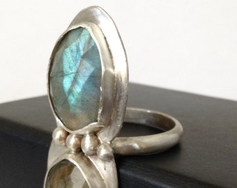 Green Labradorite Ring - Size 9.5 Ring - Statement Ring - Labradorite Jewelry