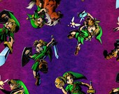 Nintendo Zelda Toss Fabric By the Yard