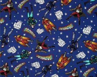 Big Bang Theory Superhero Fabric By the Yard
