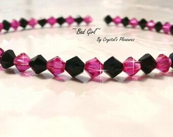 BAD GIRL Swarovski Crystal Bracelet  PICK Your Size