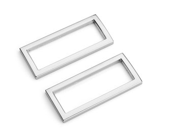 "50pcs - 1 1/2"" (38mm) Flat Zinc Square Ring - Nickel - (FSR-116) - Free Shipping"