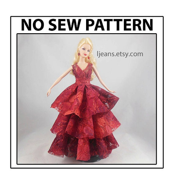 Barbie 6 in 1 No Sew Round Dress Tutorial