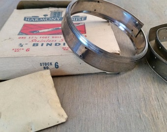 Vintage Mid Century Stainless Steel Linoleum or Vinyl Flooring Binding Strip Made by Harmony House for Camper or Home Restoration