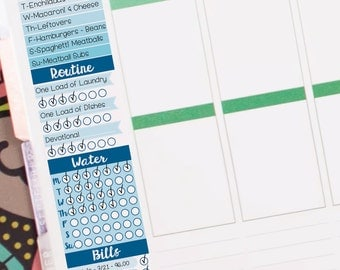 Left Column Weekly Master Tracker - Instant Download - to fit your Erin Condren Weekly Boxes