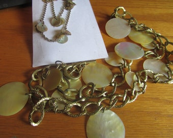2 abalone disc necklace plus