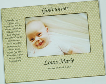 personalized godparent frame godmother frame godfather frame christening frame custom godparent frame baptism frame godparent gift