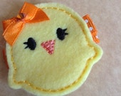Boutique Embroidered Felt Easter Baby Chick Hair Clippie (Item 16-023)