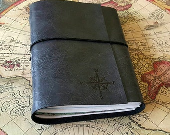 explorer journal with maps a travel journal in limited edition - charcoal