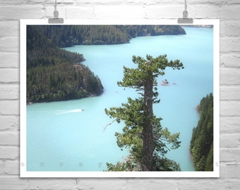 Landscape, Fine Art Photography, Pacific Northwest Photo, Lake Art, Diablo Lake, Cascades Mountains, Forests, Woodlands, Glaciers